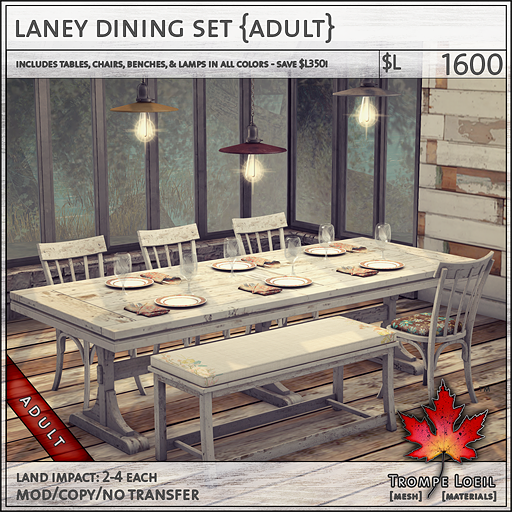 laney dining set Adult L1600
