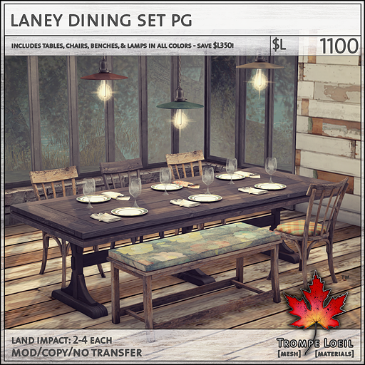 laney dining set PG L1100