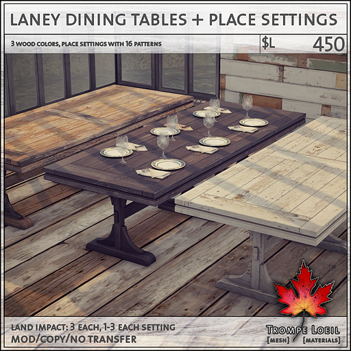 laney dining table sales L450