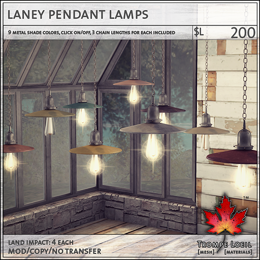 laney pendant lamps L200