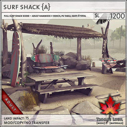 surf shack Adult L1200