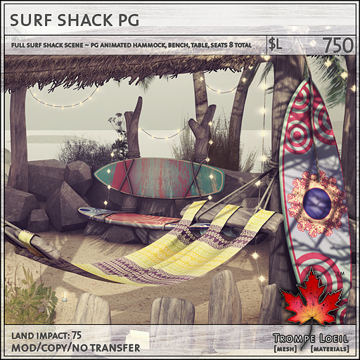 surf shack PG 750