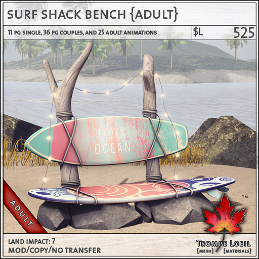 surf shack bench Adult L525