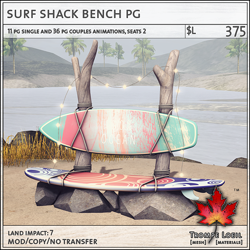 surf shack bench PG L375