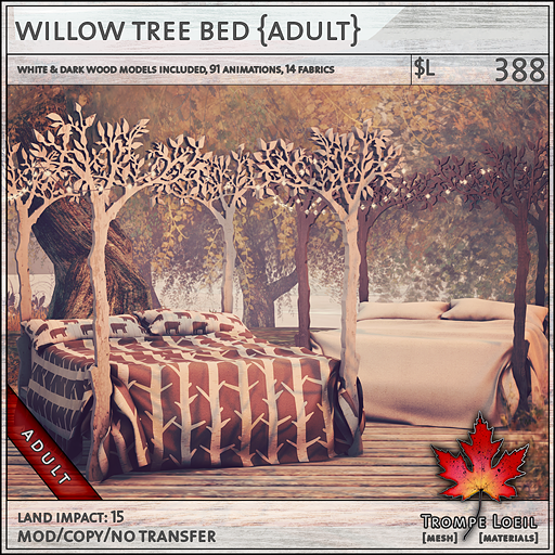 willow tree bed Adult L388