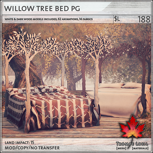 willow tree bed PG L188