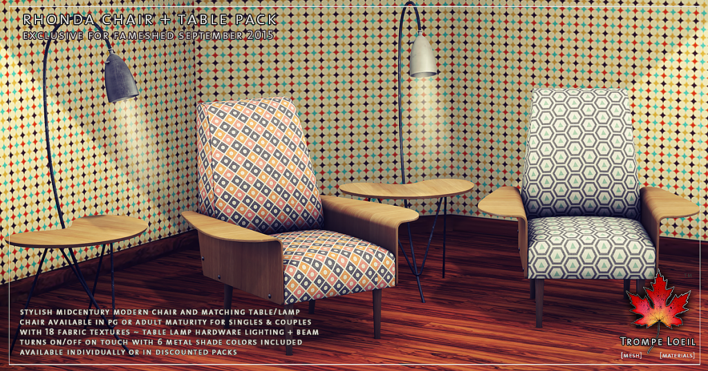 Trompe Loeil - Rhonda Chair and Table Pack promo