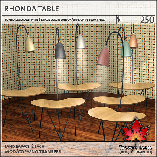 rhonda table L250