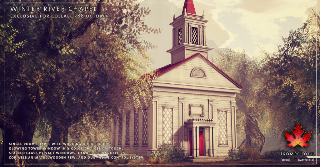 Trompe Loeil - Winter River Chapel promo 01