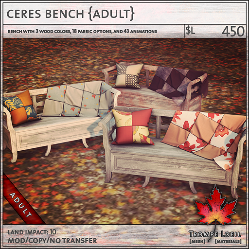 ceres bench Adult L450
