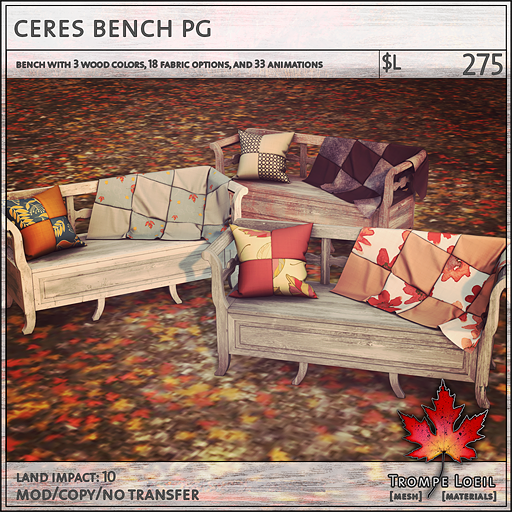 ceres bench PG L275