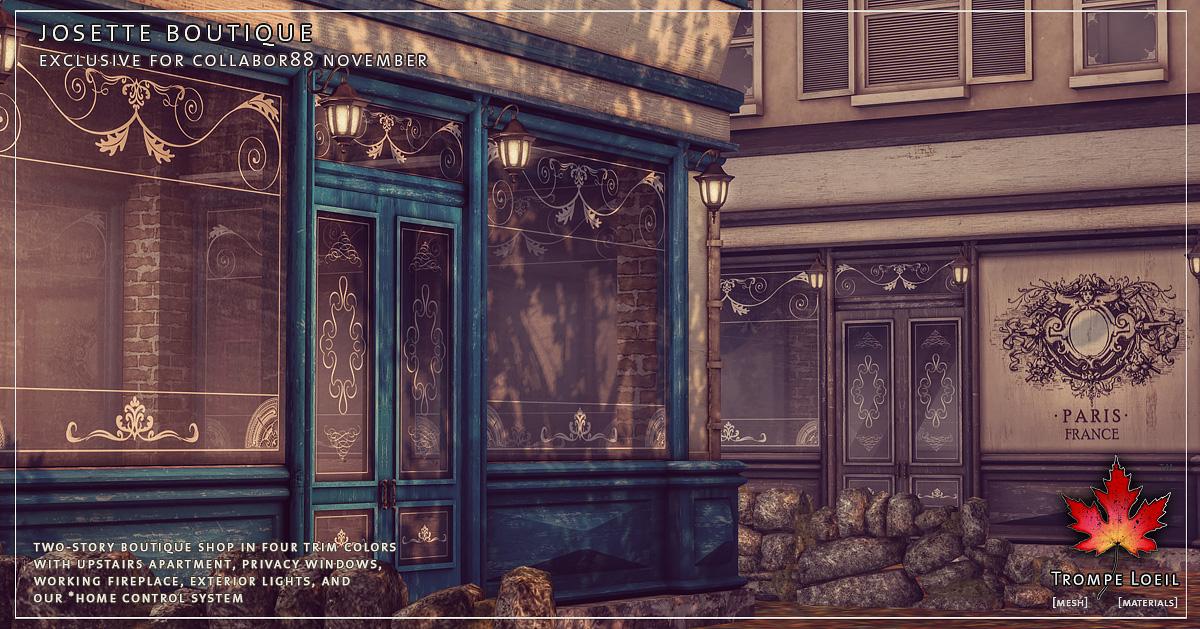 Josette Boutique & Settee for Collabor88 November