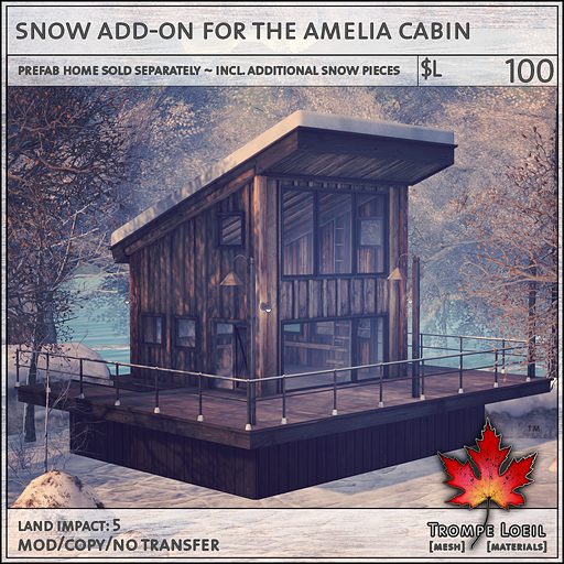 snow add-on for the amelia cabin L100