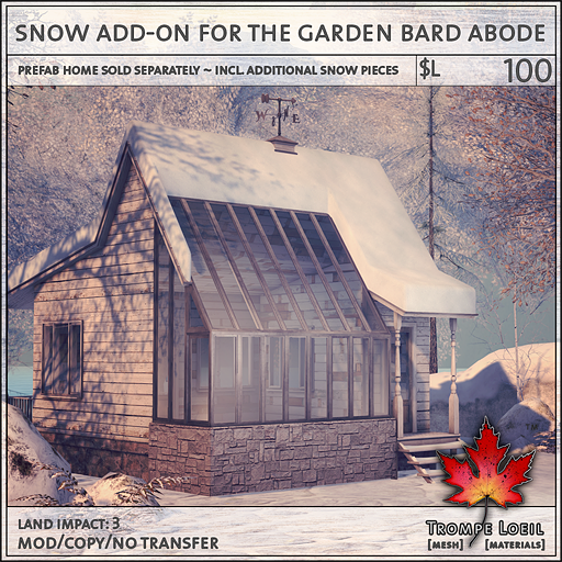 snow add-on for the garden bard abode L100