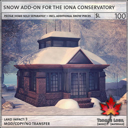 snow add-on for the iona conservatory L100