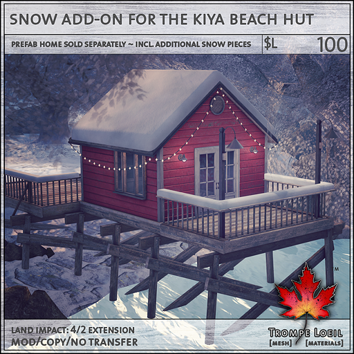 snow add-on for the kiya beach hut L100