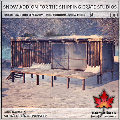 snow add-on for the shipping crate studios L100