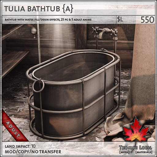 tulia bathtub Adult L550