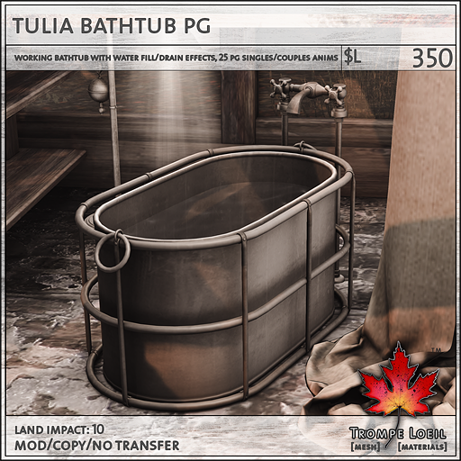 tulia bathtub PG L350