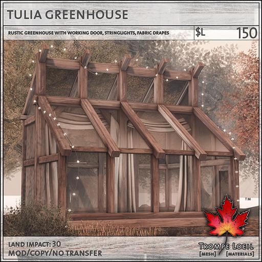 tulia greenhouse L150