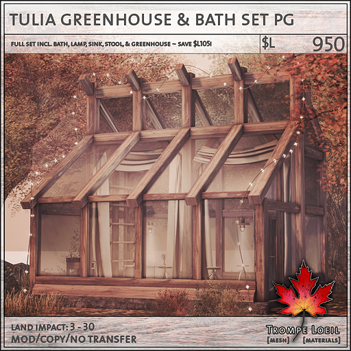 tulia greenhouse and bath set PG L950