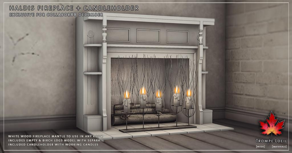 Trompe Loeil - Haldis Fireplace and Candleholder Promo