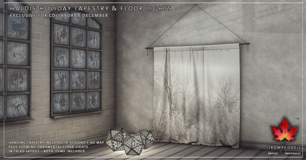 Trompe Loeil - Haldis Holiday Tapestry and Floor Lights Promo