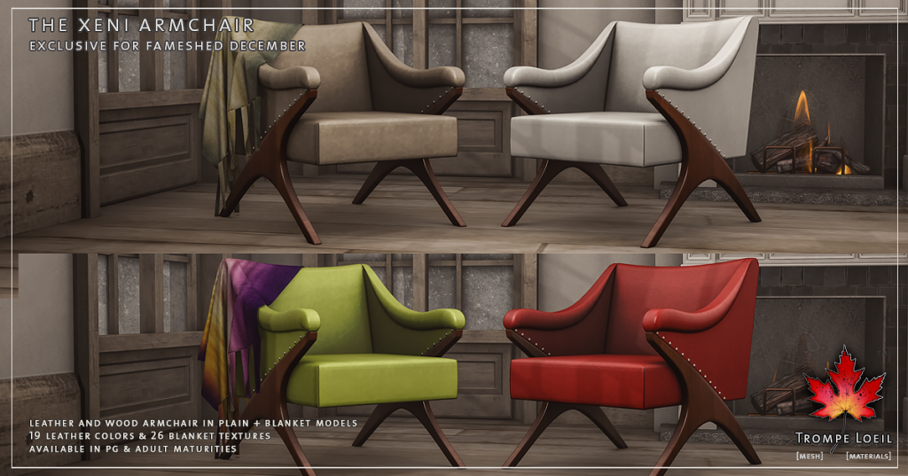 Trompe Loeil - The Xeni Armchair for FaMESHed December promo