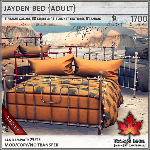 jayden bed Adult L1700