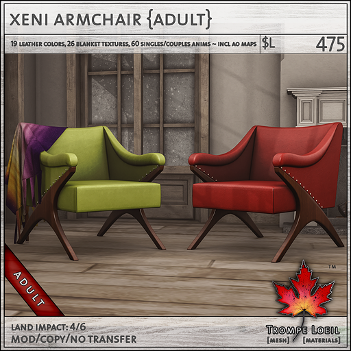 xeni armchair Adult L475