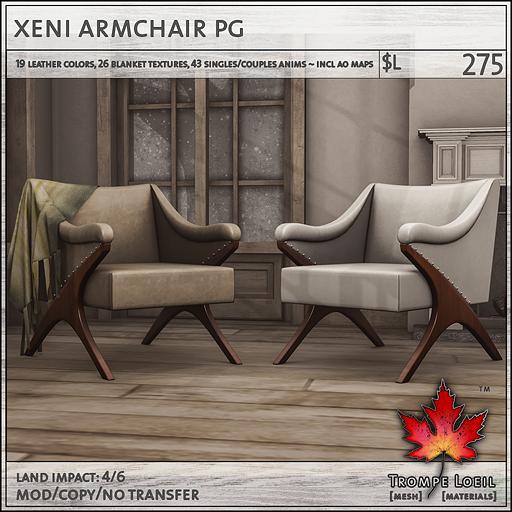 xeni armchair PG L275