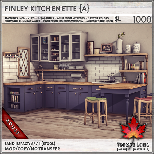 finley kitchenette Adult L1000