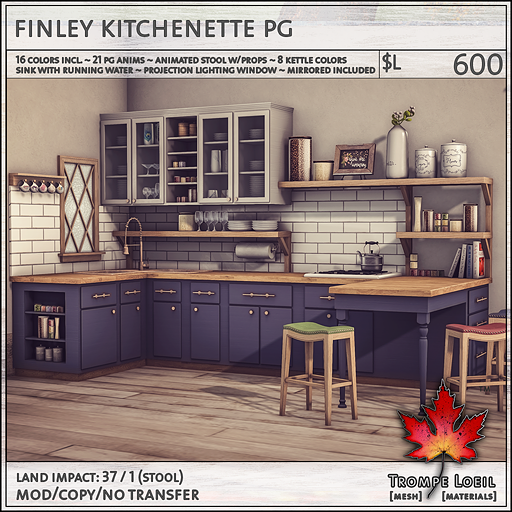 finley kitchenette PG L600