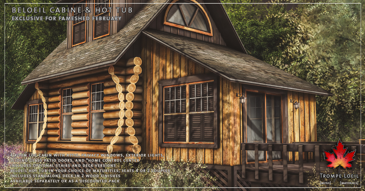 Beloeil Cabine & Hot Tub for FaMESHed February