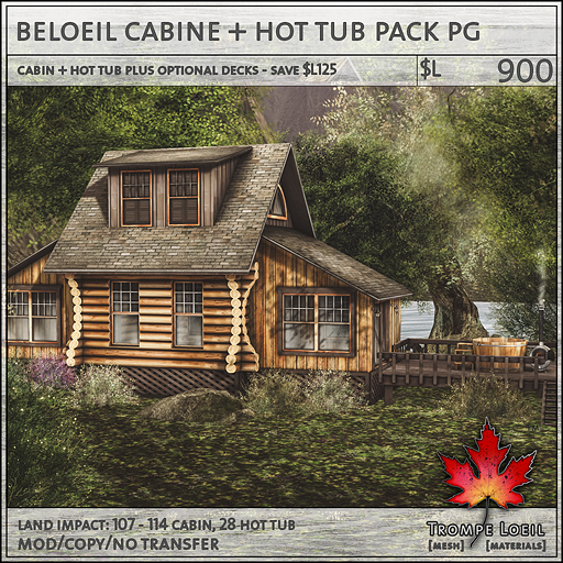 beloeil cabine and hot tub PG sales L900