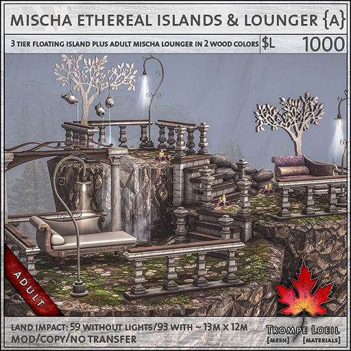 mischa ethereal islands and lounger Adult L750
