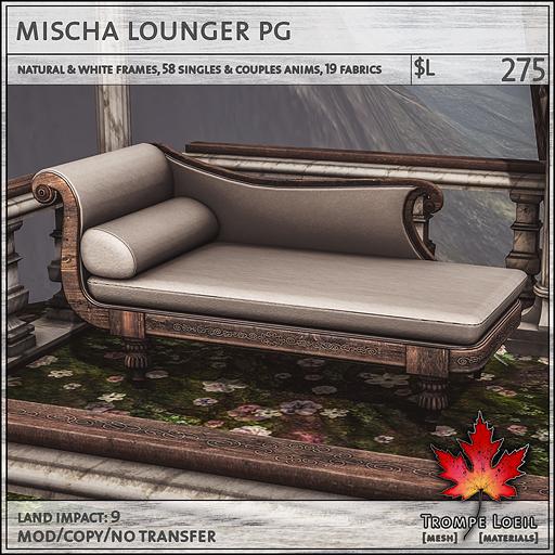 mischa lounger PG L275