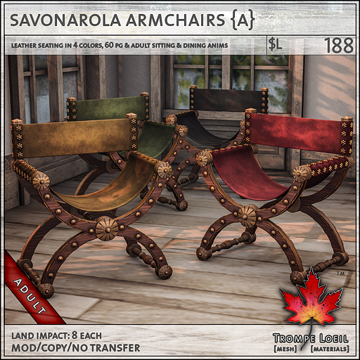 savonarola chairs Adult L188
