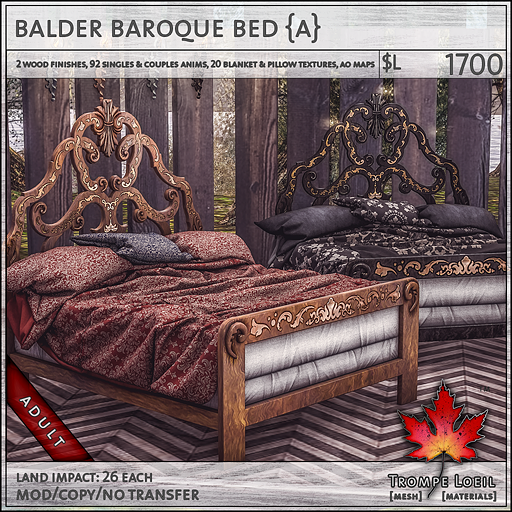 balder baroque bed Adult L1700