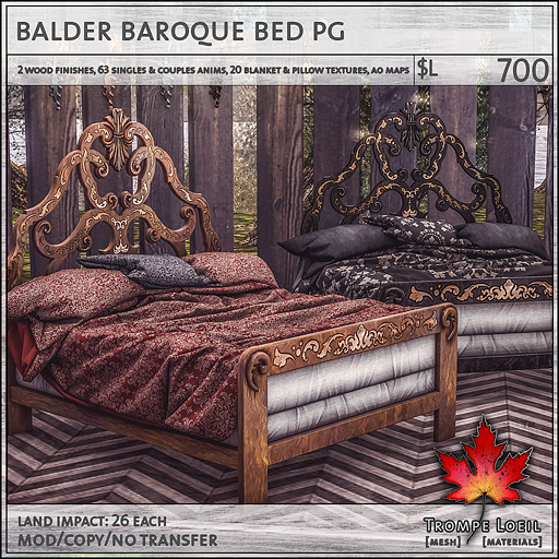 balder baroque bed PG L700