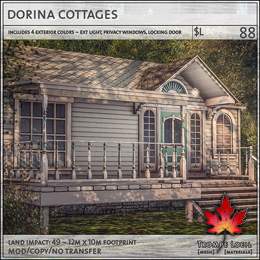 dorina cottages sales L88