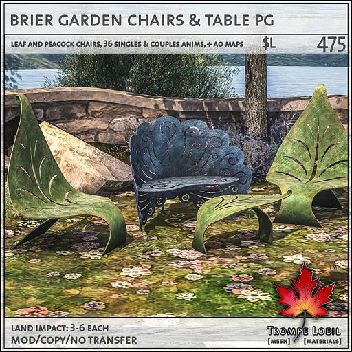 brier garden chairs PG L475