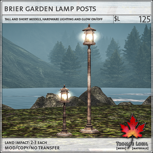 brier garden lamp posts L125