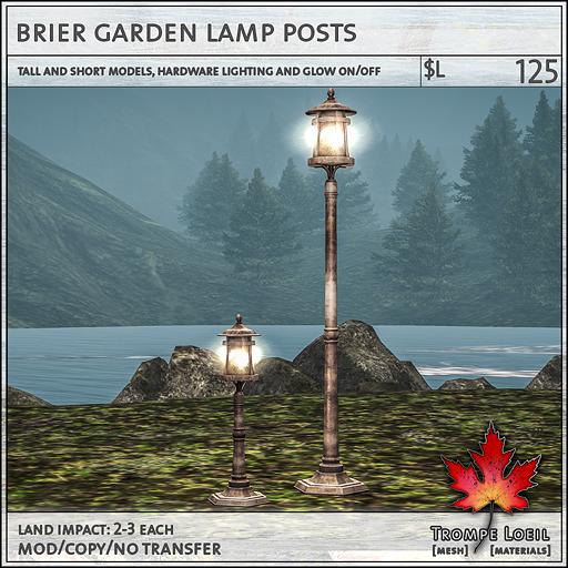 brier garden lamp posts L125