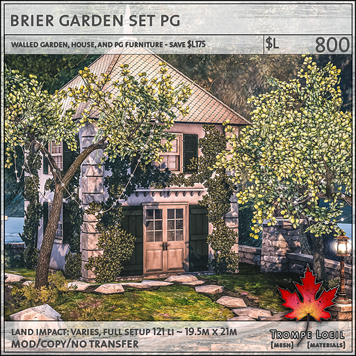 brier garden set PG L800
