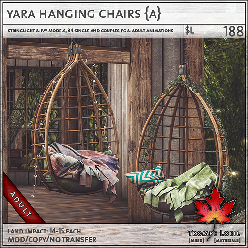 yara hanging chairs Adult L188