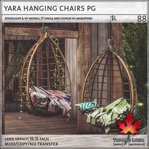 yara hanging chairs PG L88