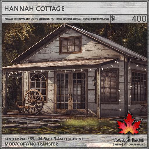 hannah cottage L400