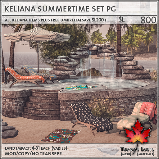 keliana summertime set PG L800