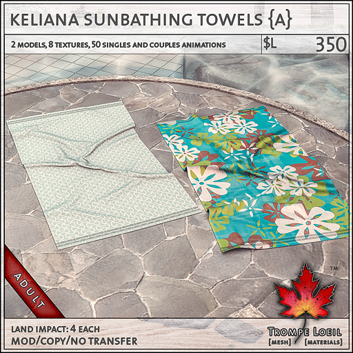 keliana towels Adult L350